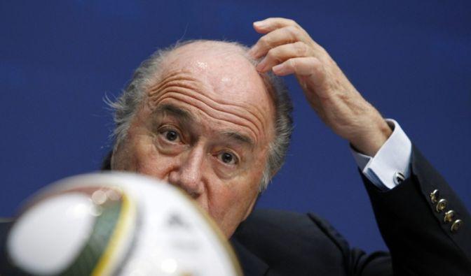 Blatter: «Ich und Rücktritt?» (Foto)