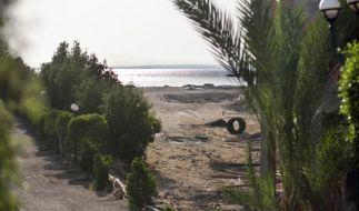 Blick auf den Strand, in Hurghada, Ägypten, an dem ein Attentäter mehrere Urlauber mit dem Messer attackierte. (Foto)