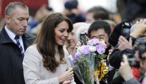 Blumen für die Herzogin Catherine beim Besuch in Cambridge. (Foto)