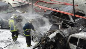 Bomben-Explosion im Zentrum Athens (Foto)