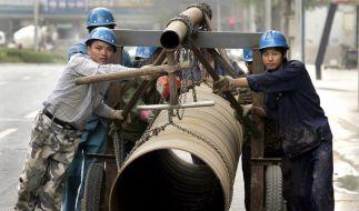 Boom flaut ab: Chinas Wirtschaft wächst langsamer (Foto)