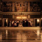 Für die Verfilmung wurde die Sixtinische Kapelle nachgebaut.