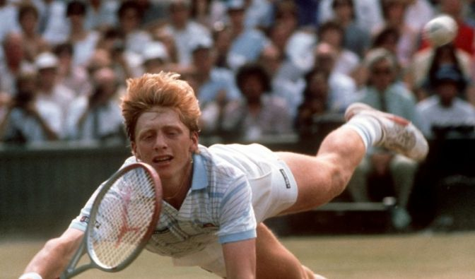 Boris Becker fliegt (Foto)