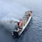 Brand auf Mallorca-Fähre unter Kontrolle (Foto)