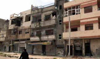 Brennpunkt Syrien: Zerstörte Gebäude im syrischen Homs. (Foto)