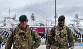 Britisches Militär muss in London verstärkt anrücken, weil ein Sicherheitsdienstleister versagte. (Foto)