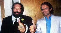 """Bud Spencer (li.) und Terence Hill waren auch privat """"Zwei wie Pech und Schwefel"""". (Foto)"""