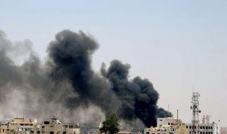 Bürgerkriegsszenen in Syriens Hauptstadt Damaskus (Foto)