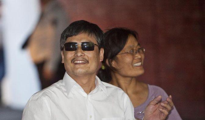 Bürgerrechtler Chen: «Bin glücklich, in den USA zu sein» (Foto)