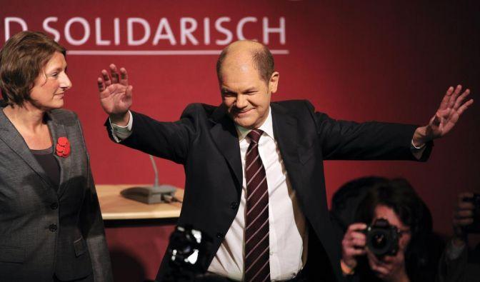 Bürgerschaftswahl in Hamburg: Wahlparty SPD (Foto)