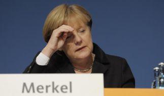Bundeskanzlerin Angela Merkel (CDU) auf dem 24. Bundesparteitag der CDU in Leipzig (Foto)