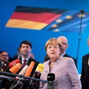 Bundeskanzlerin Angela Merkel am 05. Dezember in Essen vor dem CDU-Bundesparteitag. (Foto)