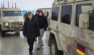 Bundeskanzlerin Merkel besucht in Afghanistan deutsche Truppen (Foto)