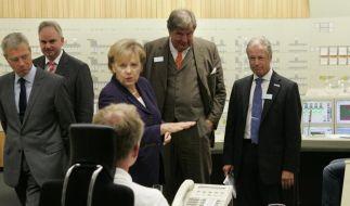 Bundeskanzlerin Merkel besuchte Kernkraftwerk Lingen. (Foto)