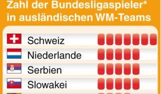 Bundesliga-Legionäre bei der WM (Foto)