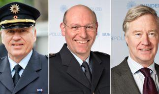 Bundespolizeipräsident Matthias Seeger und die Vizepräsidenten Wolfgang Lohmann und Michael Frehse (von links) müssen ihre Plätze räumen. (Foto)
