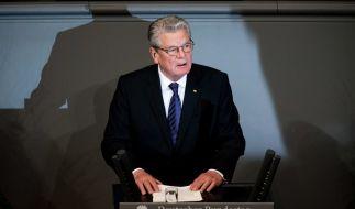 """Bundespräsident Gauck spricht im deutschen Bundestag anlässlich der Terror-Anschläge in Paris von """"Krieg"""". (Foto)"""