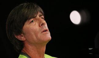 Bundestrainer Joachim Löw bei der Pressekonferenz vor dem Länderspiel gegen England in Berlin. (Foto)