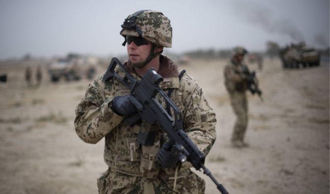 Bundeswehr-Soldat im Kampfeinsatz in Afghanistan  (Foto)
