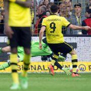 BVB-Torjäger Robert Lewandowski vergab vom Elfmeterpunkt den möglichen Sieg gegen Bayern München