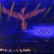 Bye, London: Langsam erlischt das Olympische Feuer.