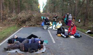 Castor-Transport am Ziel in Gorleben (Foto)