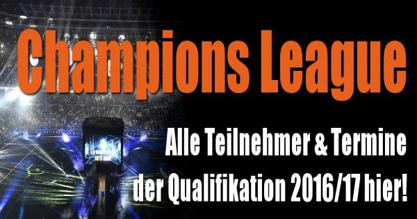 champions league qualifikation modus