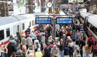 Chaos am Hauptbahnhof in Hamburg. (Foto)