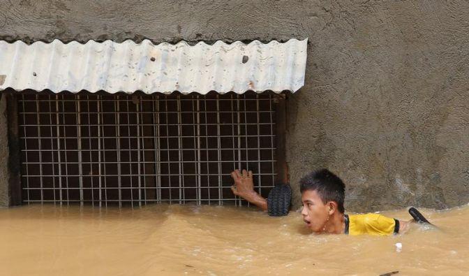 Chaos nach Überschwemmung auf Philippinen (Foto)
