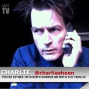 Charlie Sheen im Internetvideo.