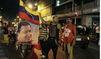 Chavez-Anhänger in Venezuelas Hauptstadt Caracas. (Foto)