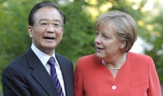 Chinesischer Minsterpräsident besucht Deutschland (Foto)