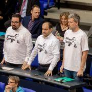 Grünen-Abgeordnete fliegen aus dem Bundestag (Foto)