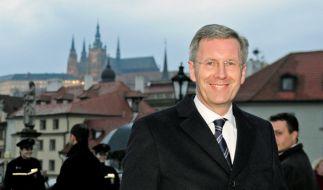 Christian Wulff beim Antrittsbesuch in Prag (Foto)