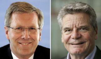 Christian Wulff oder Joachim Gauck (v. li.) - wer wird nächster Bundespräsident? (Foto)