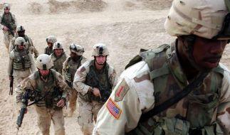 Coming home: US-Soldaten kehren aus dem Irak zurück. (Foto)