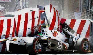 Crash beim Qualifying in Monaco (Foto)