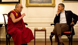 Dalai Lama trifft Barack Obama (Foto)