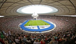 Das Berliner Olympiastadion, Austragungsort der Leichtahtletik-WM 2009. (Foto)