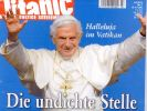 Das Cover der Titanic lässt der Papst nicht auf sich sitzen. (Foto)
