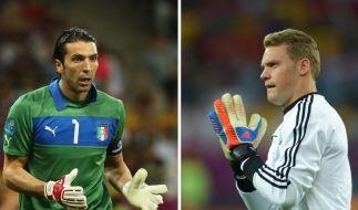 Das Duell der Keeper-Generationen: Gianluigi Buffon gegen Manuel Neuer. (Foto)
