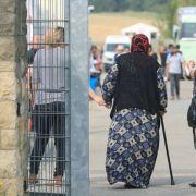 Das fragwürdige Schild verbot Asylbewerbern den Zutritt zum Laden in Selb. (Foto)