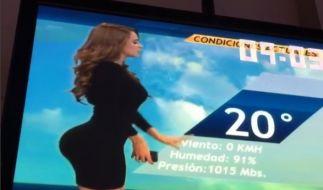 """Das """"heißeste Wetter-Girl der Welt"""" Yanet Garcia gestand jüngst, dass bei ihr alles echt und das Resultat von guten Genen und harter Arbeit sei. (Foto)"""