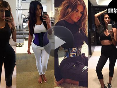 kylie jenner kim kardashian co das kardashian wespen taillen battle videos. Black Bedroom Furniture Sets. Home Design Ideas