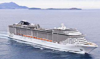 """Das Kreuzfahrtschiff """"MS Fantasia"""" musste wegen Sprengstoffverdachtes anlegen und durchsucht werden. (Foto)"""