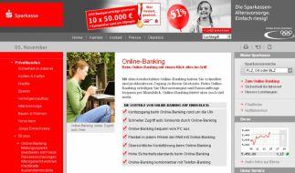 Das Online-Banking der Sparkasse (Foto)