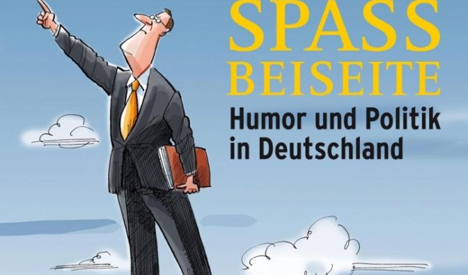 Das Plakat «Spaß beiseite. Humor und Politik in Deutschland» zur Ausstellung in Leipzig. (Foto)