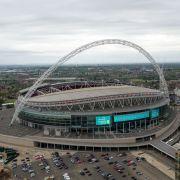 Das Wembley-Stadion in London vor dem FA-Cup-Finale zwischen dem FC Arsenal und dem FC Chelsea am 27. Mai 2017. (Foto)