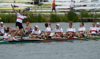 Dem Gold-Druck stand gehalten: Der deutschland-Achter gewann das dritte Olympiagold für das deutsche Team. (Foto)