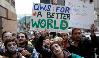 Demonstranten von «Occupy Wall Street» (Foto)